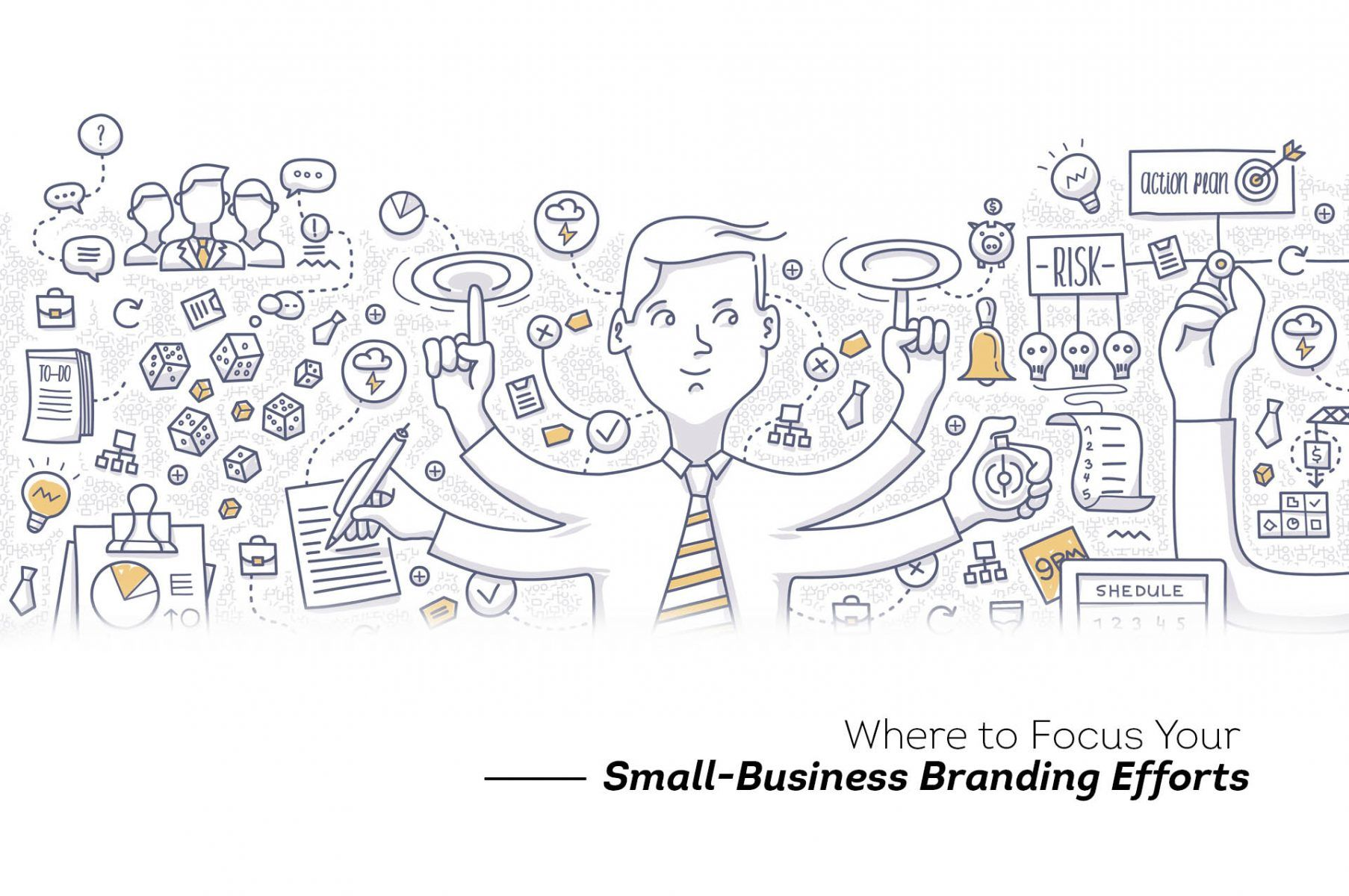 Why should small businesses identify the most relevant branding touchpoints and focus their attention on them.